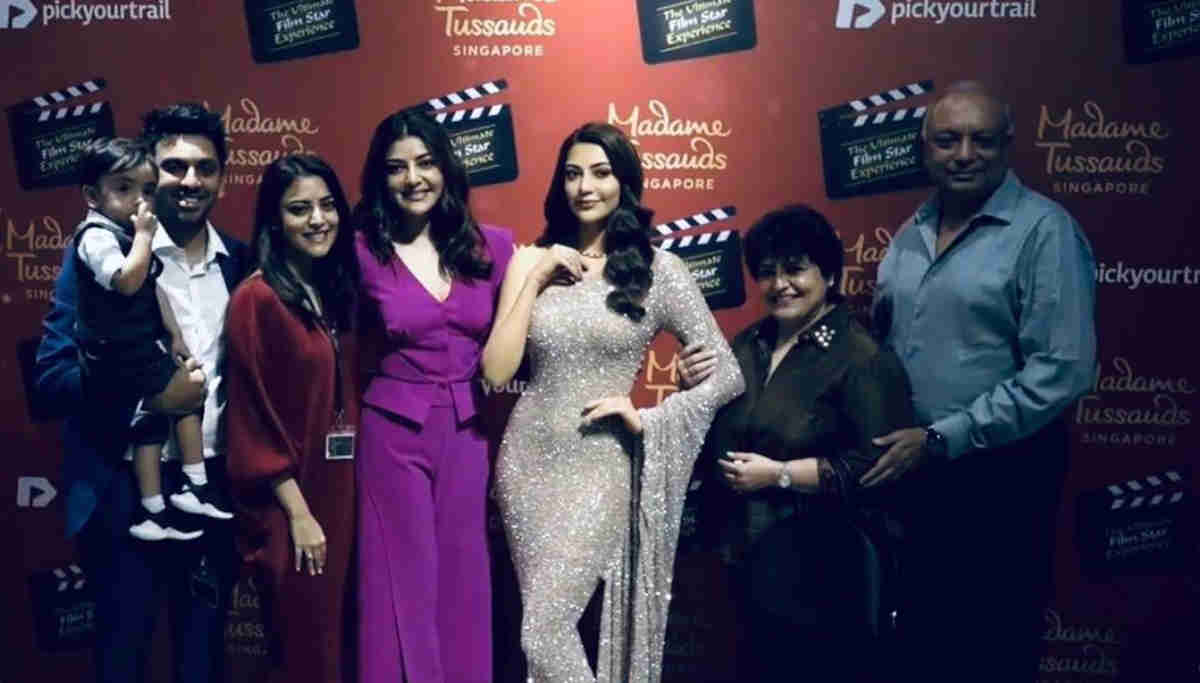 Kajal Agarwal and her Family Unveils Her Wax Statue at Madame Tussauds