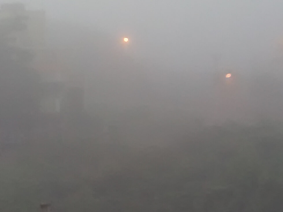 Heavy Smog Today Morning At Coimbatore