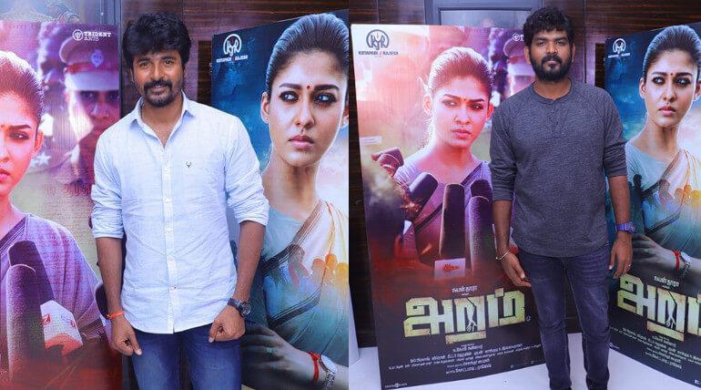 Sivakarthikeyan, RJ Balaji, Vignesh Shivan About Aramm Movie