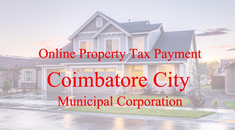 Coimbatore City Municipal Corporation Online Tax Payment
