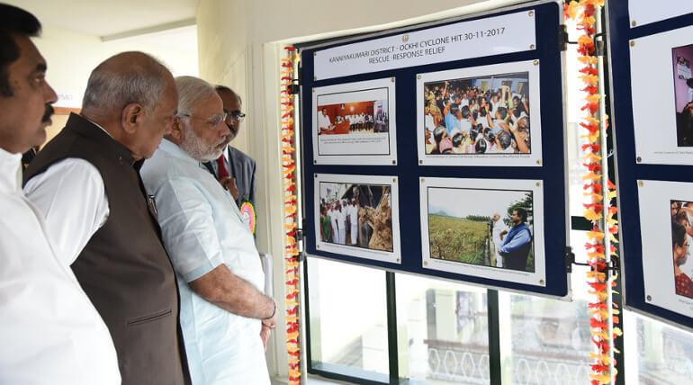 Ockhi Cyclone Modi Visits Kanyakumari