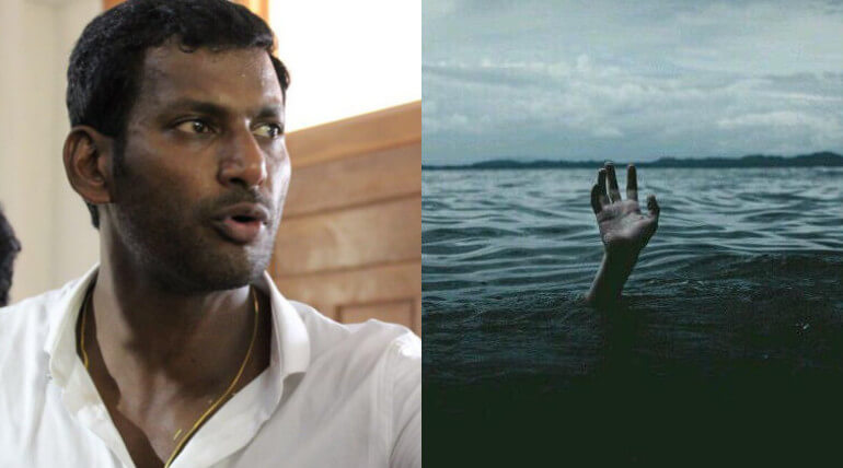 Vishal Requested TN Govt To Give Top Priority To Save Fishermen
