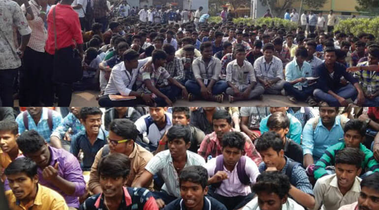 Chennai Law College Students Started Protest Against Bus Fare Hike