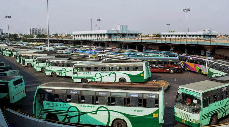 Transport Workers on Indefinite Strike In Tamil Nadu