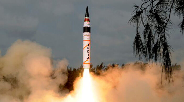 India Successfully Test Fired Its Most Lethal ICBM AGNI V
