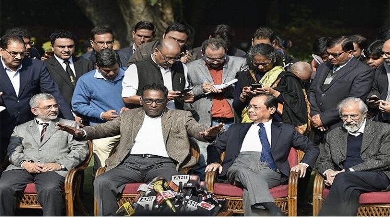 The Justices Of Supreme Court Had Made An Historical Press Meet