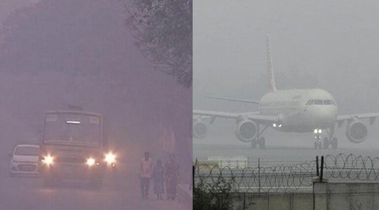 Flights Delayed Due To Boghi Smog In Chennai