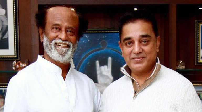 Kamal Haasan Met Rajinikanth In Poes Garden,Image from twitter
