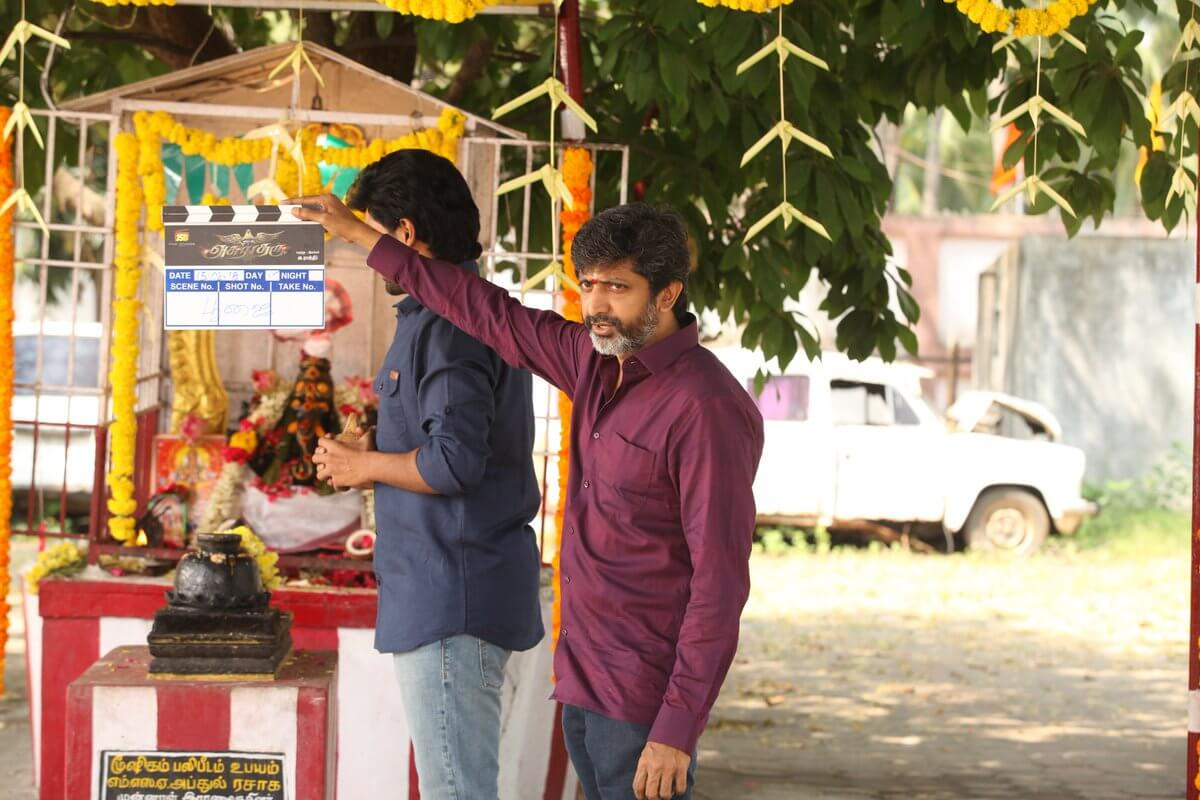 Vikram Prabhu Asura Guru Movie Pooja Still3