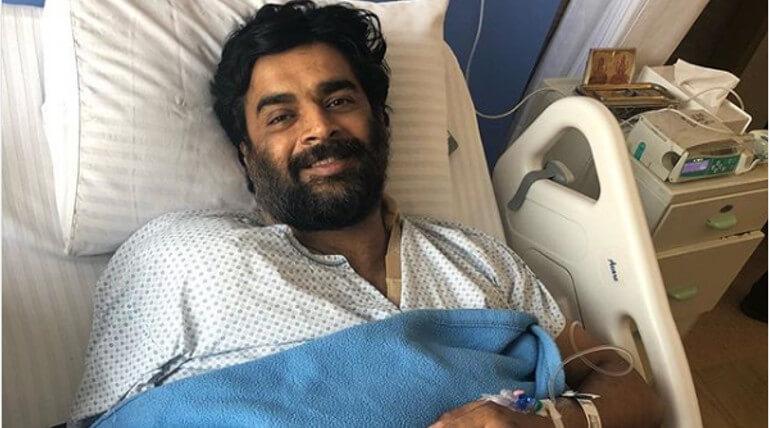 Madhavan Recovering After His Shoulder Surgery, Image credit - Actor Madhavan Instagram