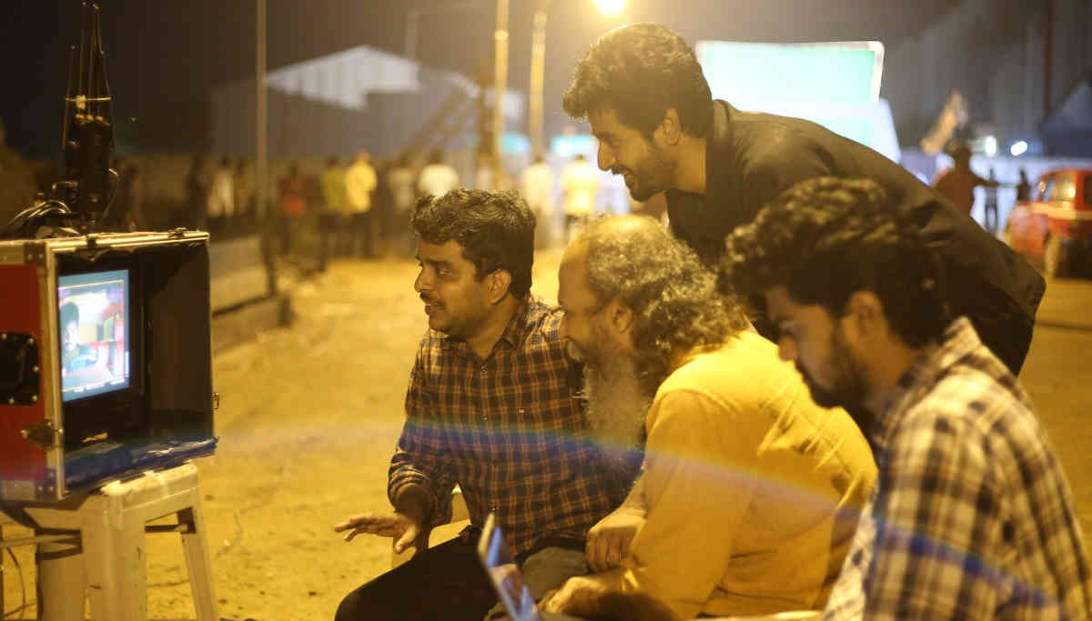 Sivakarthikeyan and Director Ravikumar at the Shooting Spot