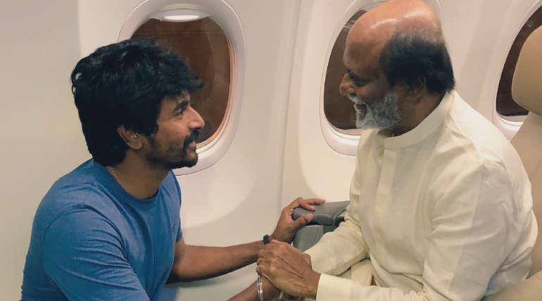Sivarkarthikeyan and Rajinikanth Engaging in a conversation / File Photo