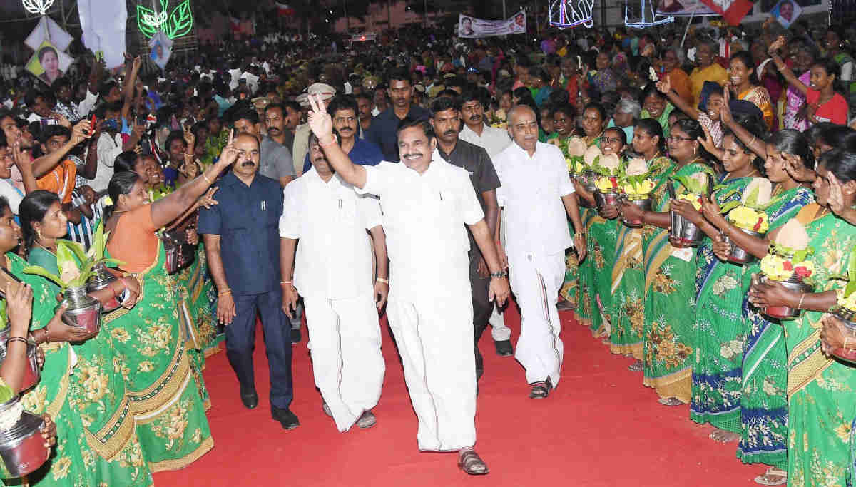 Cm Edappadi Palaniswami at the 72nd Birth Anniversary Celebration of Jayalalitha