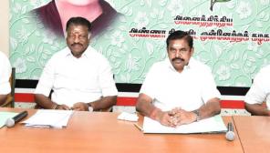 Deputy CM O Panneerselvan and Cm Edappadi Palaniswami
